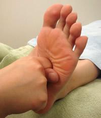 リフレクソロジー「足裏刺激」
